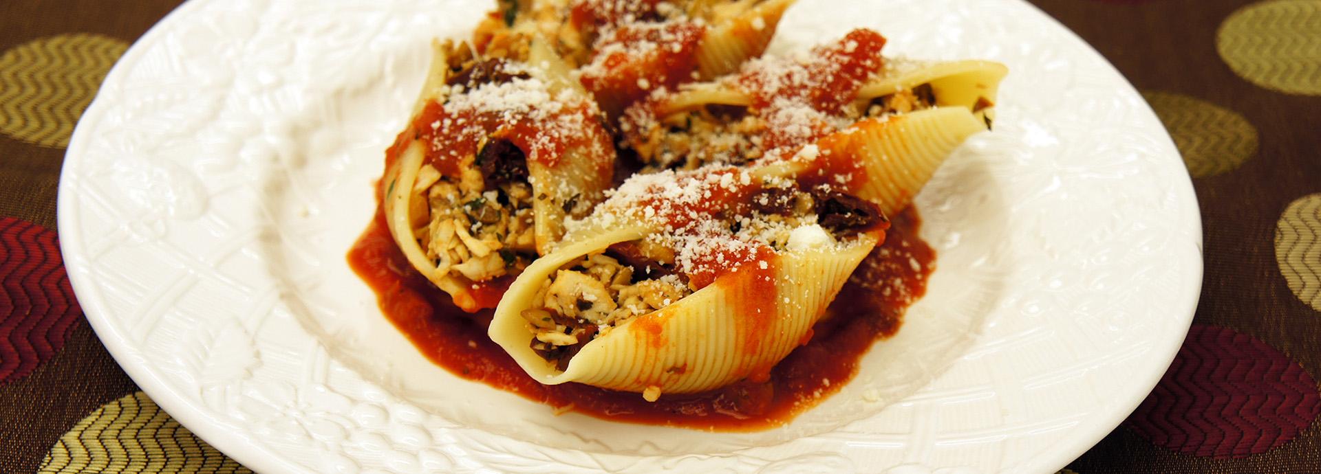 Creamette 174 Chicken And Sun Dried Tomato Stuffed Shells